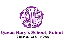 queen-mary-school-rohini-logo